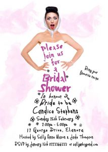 Bridal Shower 27 Dresses invitation